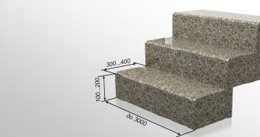 celnye stupeni iz granita
