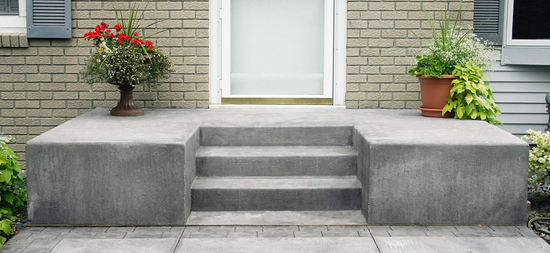 stroitelstvo i oblicovka betonnogo krylca